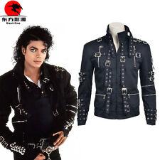 DFYM Michael Jackson Bad Cosplay Costume Jacket Coat Black Custom Made