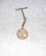 VTG 14K GOLD 1890s? POCKET WATCH FOB NEVADA 13.9g MEDALLION ENGRAVED G L RANEY