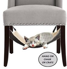 Cat Hammock Bed Hanging Soft Pet Bed For Cage Chair Crate Ferret LIKENEW OPEN