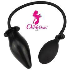 Gode Gonflable Plug Gros diamètre anal noir avec pompe