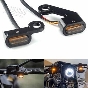 E Mark LED Turn Signal Light Mini Blinker Indicators For Harley Dyna Cafe Racer