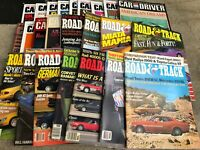 FRB-#734 LOT OF 24 vintage CAR magazines - CAR and DRIVER - ROAD AND TRACK