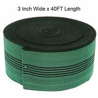 """40FT Sofa Elastic Webbing Stretch Latex Band Upholstery Furniture Repair DIY  3"""""""
