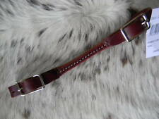 Western Burgundy Leather Horse Bridle Curb Strap Rolled Center New Horse Tack