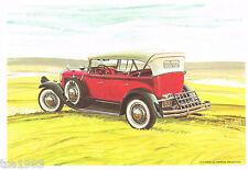 1929 PIERCE-ARROW PHAETON Automobile Watercolor like Print Picture Painting