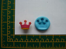 SMALL CROWN SILICONE MOULD/MOLD for Sugarcraft, Polymer Clays,Food,Soap