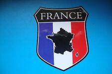 2 FRANCE MAP FLAG SHIELDS  CAR WINDOW BUMPER  STICKERS MOTORBIKE HELMET