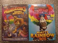 Madagascar 3: Europes Most Wanted DVD ~ Sealed New ~ Plus Marty's Rainbow Wig