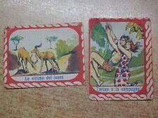 lotto vecchie FIGURINE FERRERO Le vittime del Leone Tarzan e la compagna raccolt