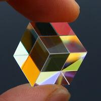 Clear X-cube Glass Defective Cross Dichroic Prism RGB Combiner Splitter Decor US