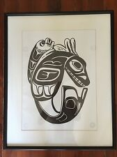 Northwest Coast Native Artist L A Lawrence 396/500 Killer Orca Whale Haida Art