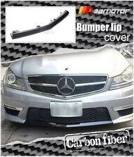Carbon Fibre Lip Front Cover for Mercedes C63 C204 / W204 Facelift AMG Bumper