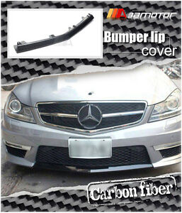 Carbon Fibre Lip Front Cover fits Mercedes C204 / W204 C63 AMG Facelift Bumper