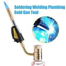 Gas Ignition Turbo Torch Brazing Soldering Propane Welding Plumbing Gun Tool BT