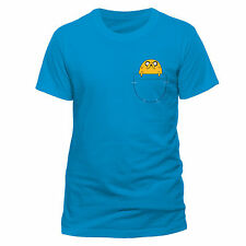 Adventure Time Jake Pocket Blue T Shirt All Sizes - Cartoon Network Merchandise