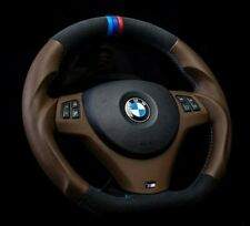 BMW Steering Wheel custom flat bottom brown E90 M3 1M E92 335i 135i 328i 330i