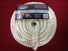 "ANCHOR LINE 1/2"" X 150' TWISTED NYLON 3 STRAND WHITE SHORELINE SL75822"