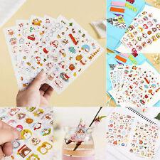 6 Sheets Kawaii Rabbit Girl Colorful Stickers Diary Scrapbook Decal Photo Craft