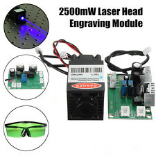 Powerful 2.5W 445nm - 450nm Blue Laser Diode Module Engraver With Green Goggles