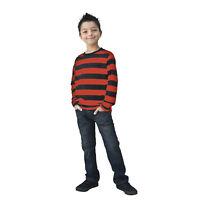 Kids NYC Long Sleeve Punk Mime Stripe Halloween Cosplay Costume Striped Shirt