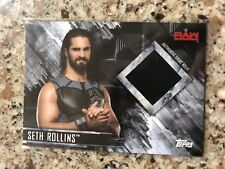 2018 Topps WWE Then Now Forever Seth Rollins Event Used Shirt Relic 32/99