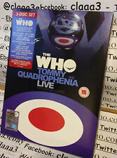 DVD - THE WHO - 3 DISC - tommy and quadrophenia Live + guests collins idol john