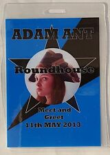 Adam Ant/ The Ants Official 2013  Tour Round House Meet and Greet Pass