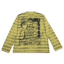 New listing Legends of Rock Tee TShirt Womens XXL Yellow Striped Long Sleeve Hendrix Cobain