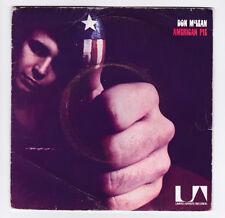 SP 45 TOURS DON McLEAN AMERICAN PIE UNITED ARTISTS RECORDS 35 325 en 1971