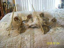 Fredrick Cooper Electric Rare Set Of 2 Candelabra Vintage Bronze Wall Sconces