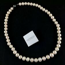 "Imperial Pearls Necklace by Josh Bazar 10.5-12.5mm Cultured Freshwater 22"" .925"