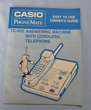 Vintage Casio Phone Mate Answering Machine Model TC-520 Owner's Guide