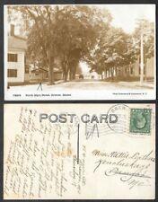 1917 Maine Real Photo Postcard - Brewer - North Maine Street