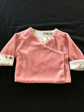 Baby Boden NWOT Pink Velour Bunny Jacket - 0-3 Months