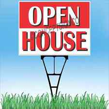 18x24 Open House Outdoor Yard Sign Amp Stake Sidewalk Lawn Realtor House Estate