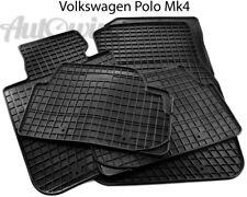 Rubber Black Floor Mats for Volkswagen Polo IV 2002-2008 LHD Left Hand Driver