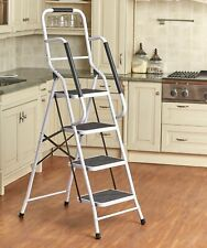 4-Step Project Ladder with Side Handles for Balancing and Grip