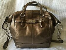 Coach Chelsea Metallic Bronze Leather Emerson Shoulder Tote Bag 17794