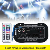 Auto Car Bluetooth HiFi Bass Power Stereo Digital Amplifier AMP USB TF+RemoteCWD