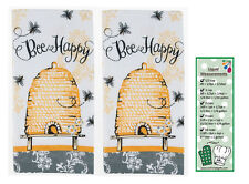 Queen Bee 2-Piece Terry Towels from Kay Dee Designs with Bookmark