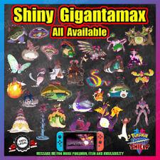 Shiny GIGANTAMAX Packs | Includes DLC Isle of Armor | 6IV | Pokemon Sword Shield
