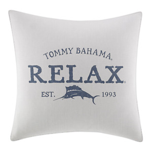 Tommy Bahama Raw Coast Relax 20 inch Dec Pillow, 20x20, Natural