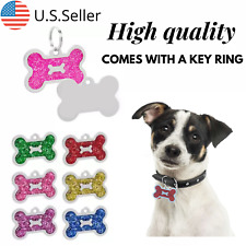 Buy 4 Get 1 Free √ Bone shaped Dog Tags Pet Tag Cat Charm Engraved Personalized
