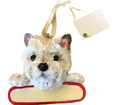 Cairn Terrier White Dog Ornament Can Be Personalized Gift New