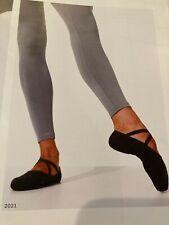 Capezio Romeo 2021 7.5W canvas split sole ballet slipper BLACK