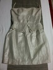 SASS AND BIBE Gold Strapless Mini Cocktail Dress Size US 0 / EUR 36. Silk Lining