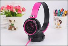 New! Hello Kitty Rotating Headphones Kids Girls Black Pink Earphones For Music