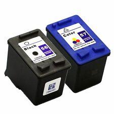 2 X Tinta compatible PARA IMP 56 C6656A 57 C6657A NON OEM HQLTY 56 XL 57 XL