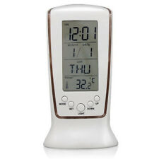 Home Digital LED Backlight LCD Display Table Alarm Clock Thermometer Calend R6V1