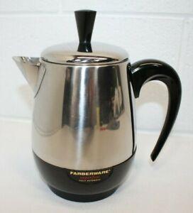 Vintage? Farberware Superfast Electric Coffee Percolator 134 Complete 4 cup NICE